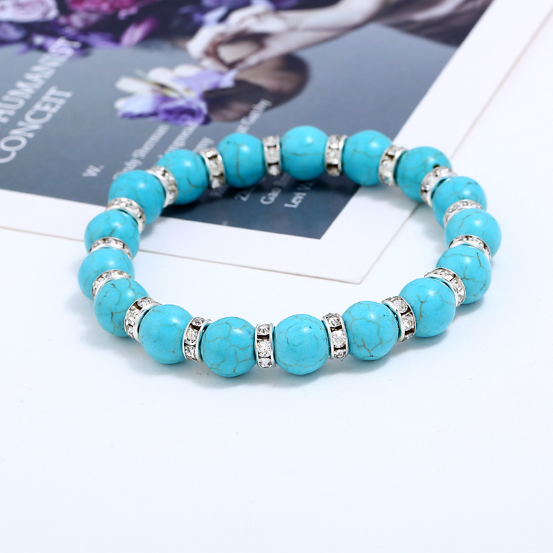 Other Natural Stone  Bracelets Geometric (blue)  NHKQ1421-blue