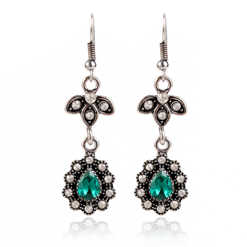 Fashion Alloy plating earring Geometric (Old alloy green)  NHKQ1439-Old alloy green