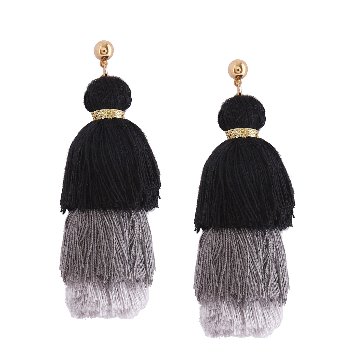 Occident and the United States alloy plating earring (Brown powder)NHNMD3826-Brown powder