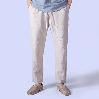 Chinese tang suit long pants for men linen trousers