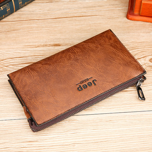 New Korean version of men's clutch bag, long zipper bag, gift wallet, factory direct wholesale, customized one-piece delivery