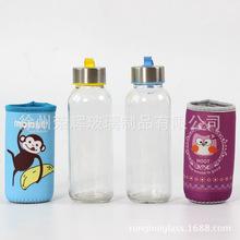 廣告杯子玻璃杯定做促銷定做禮品杯磨砂水瓶訂制透明隨手杯印logo