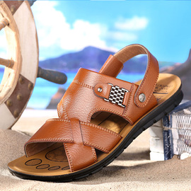 Summer men's beach shoes breathable casual sandals new sandals slippers students leather men's shoes