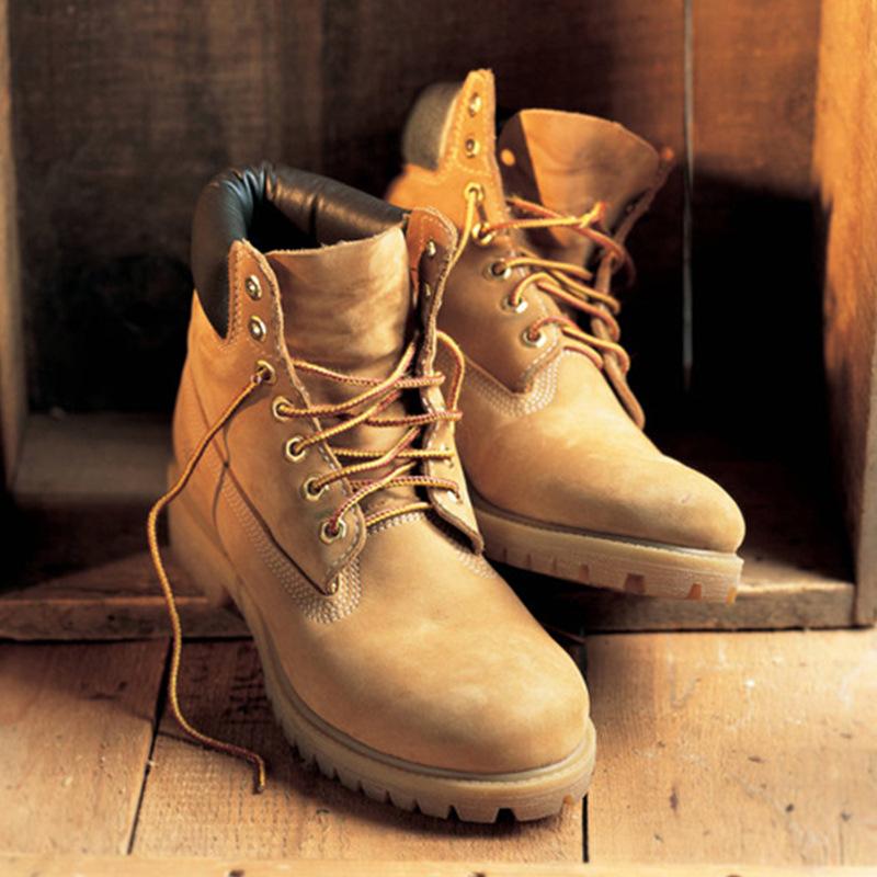 马登春冬雪地靴马丁靴男靴工装短靴子厚底加绒踢不烂大黄靴潮