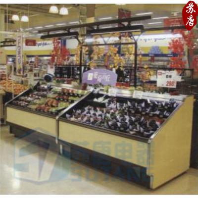 双层风冷展示柜 风幕柜可定做水果寿司熟食岛柜冷藏展示岛柜13PB