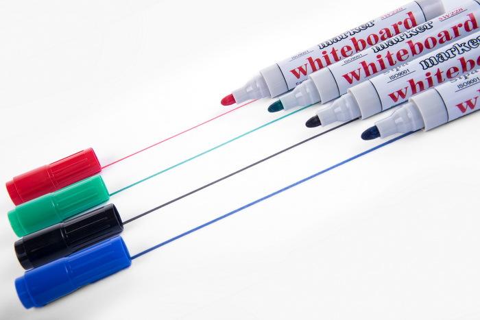 中柏SW228白板笔水性可擦白板笔黑 蓝 红 绿色白板专用笔办公用品