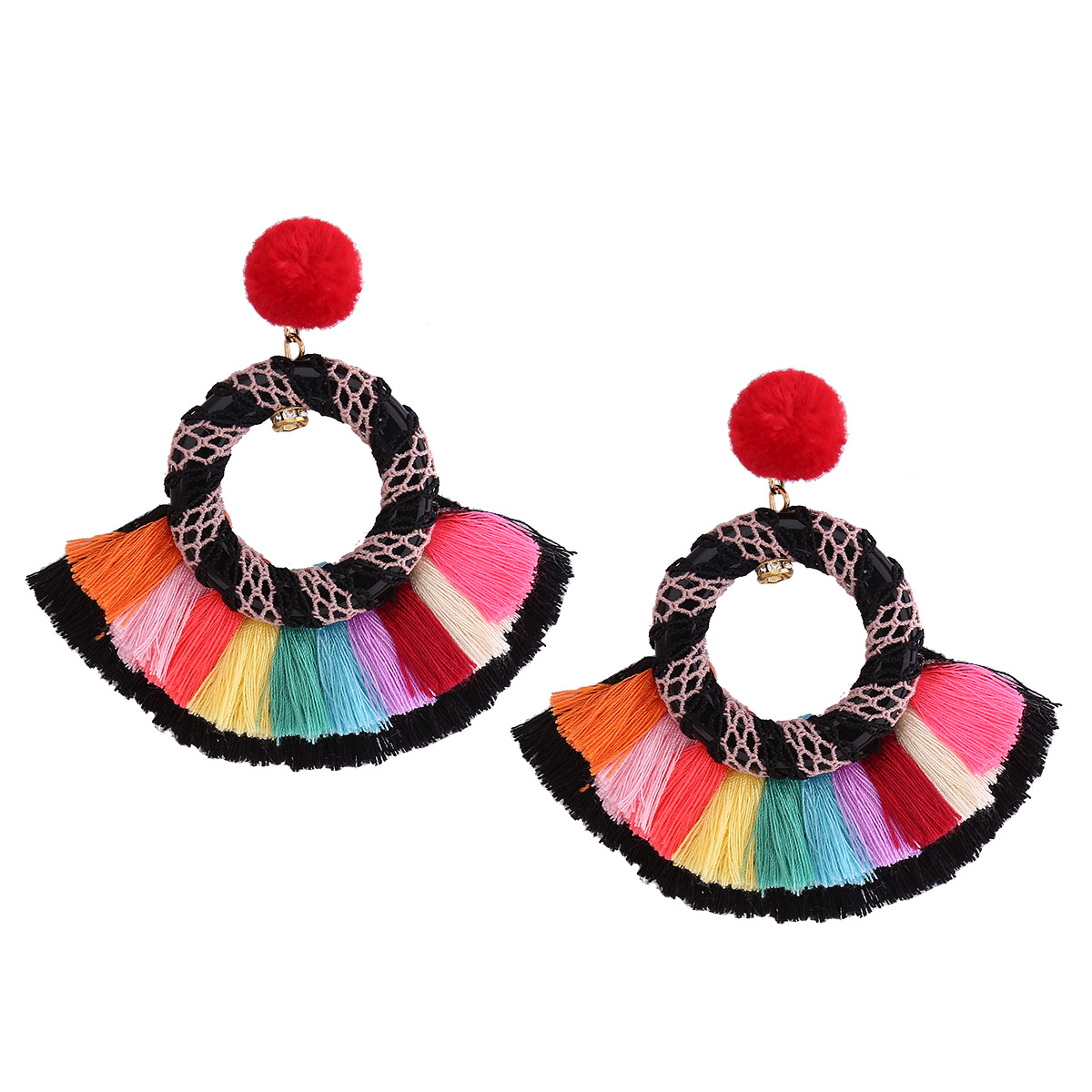 folk-custom alloy plating earring (color)NHNMD3822-color