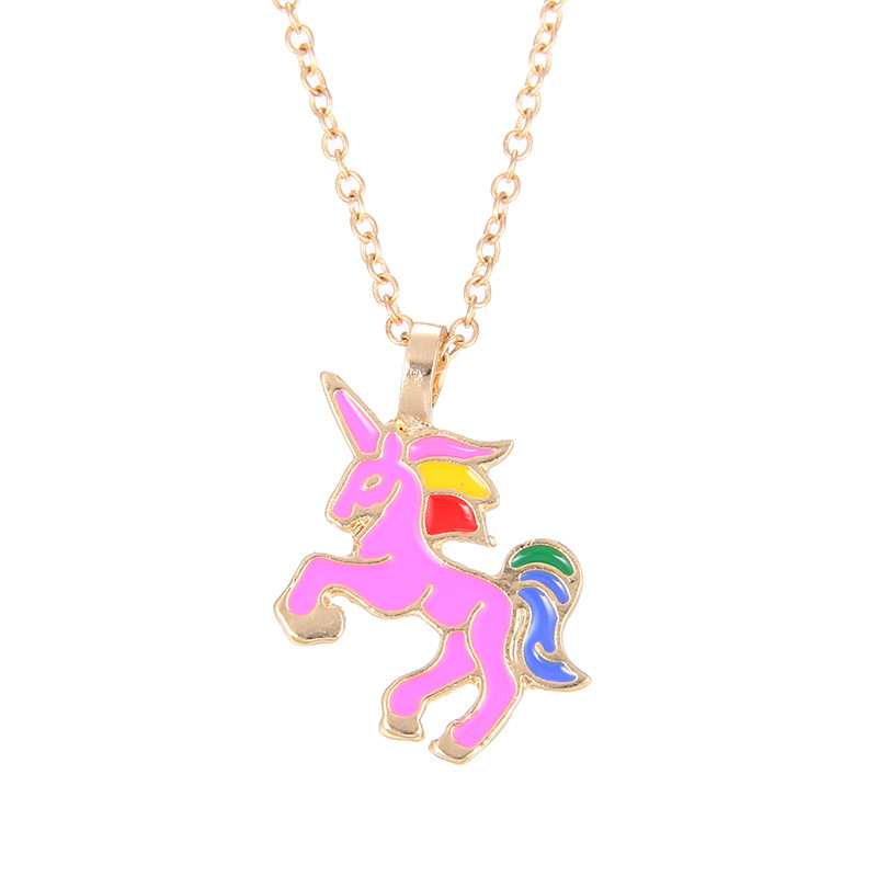 Fashion Alloy plating necklace Animal (White gold chain silver card)NHSK0199-White gold chain silver card