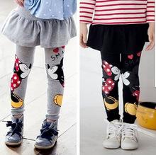 Phiên bản Hàn Quốc của các cô gái mới mặc quần legging trẻ em hoạt hình dễ thương hakama baby mùa xuân và mùa thu mẫu quần legging cotton Culottes
