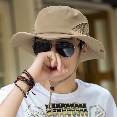 Breathable fisherman's hat men's outdoor sunscreen hat big eaves fishing sun hat