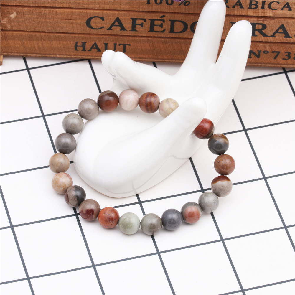 Hot 8mm Ocean Stone Bracelet Natural Stone DIY Beaded Bracelet NHYL175519