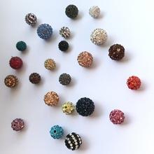 厂家直销 diy手链串珠香巴拉球饰品配件 满钻钻球软陶泥钻球
