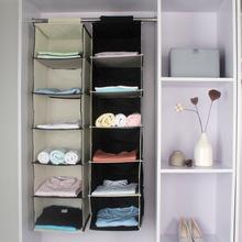 生活家居用品批發6格懸掛式衣服櫃收納掛袋無紡布布藝多層收納袋