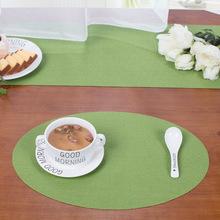 一件代发椭圆PVC编织餐垫双层隔热杯垫防水耐脏餐具垫跨境电商专