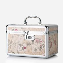 韩国专业铝合金化妆包手提多层大容量化妆箱美甲工具护肤品收纳包