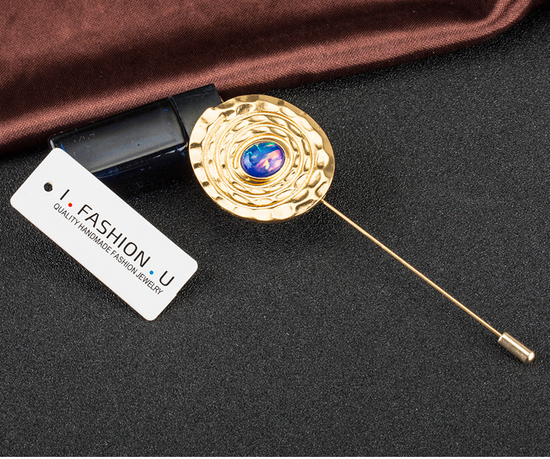 Fashion OL Occident and the United States Zinc alloy + brassbrooch NHBJ0300
