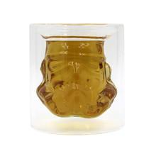 新奇特時尚星球白士兵玻璃酒杯創意家居雙層高硼硅玻璃杯跨境熱賣