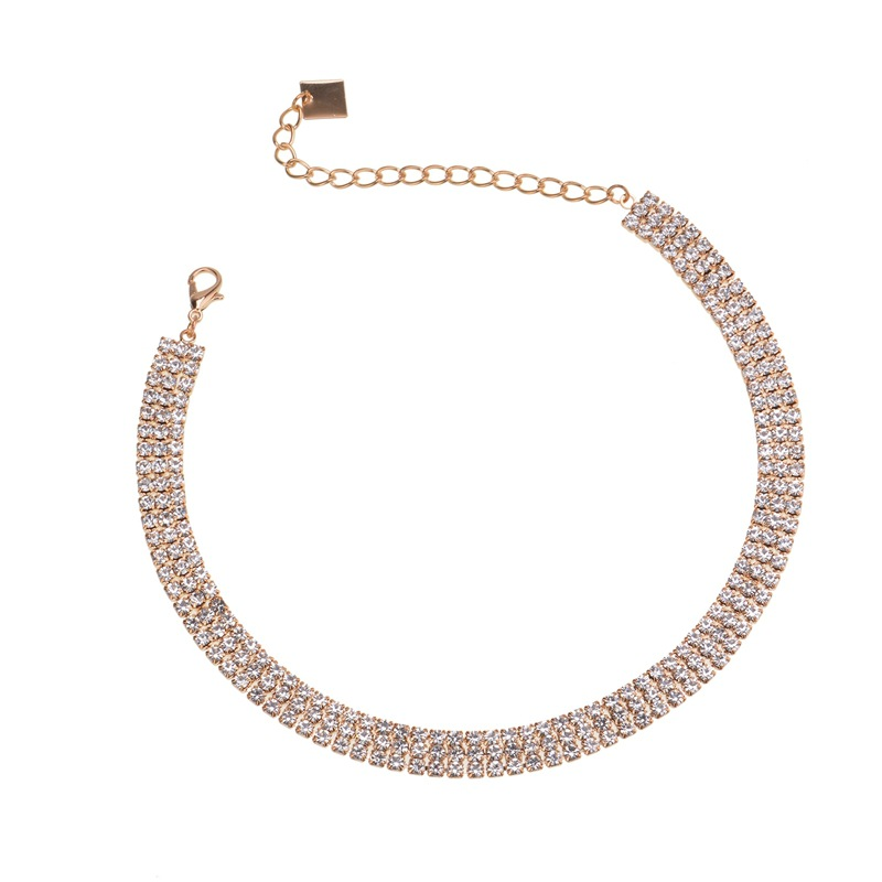 other copper Diamond necklace (Gold)NHYT0516-Gold