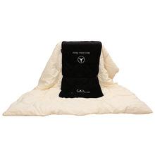 奔驰汽车抱枕奥迪空调被子两用刺绣靠垫被车用多功能折叠被代发