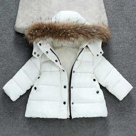 童装女童2020冬季新款棉衣中长款中小童韩版加厚加绒大毛领棉服外
