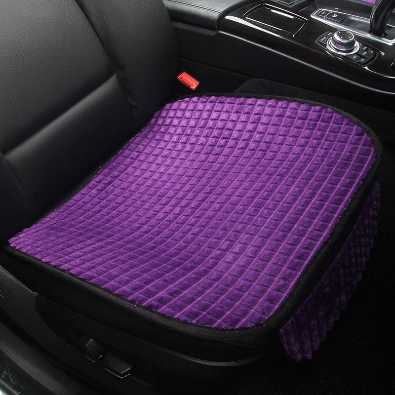 冬季汽车坐垫无靠背单张单个前排单垫短毛绒保暖防滑免绑通用座垫