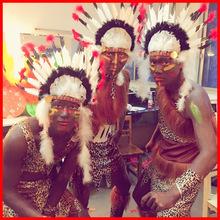 野人服装cos原始人 表演服成人万圣节非洲土著人印第安人演出服装