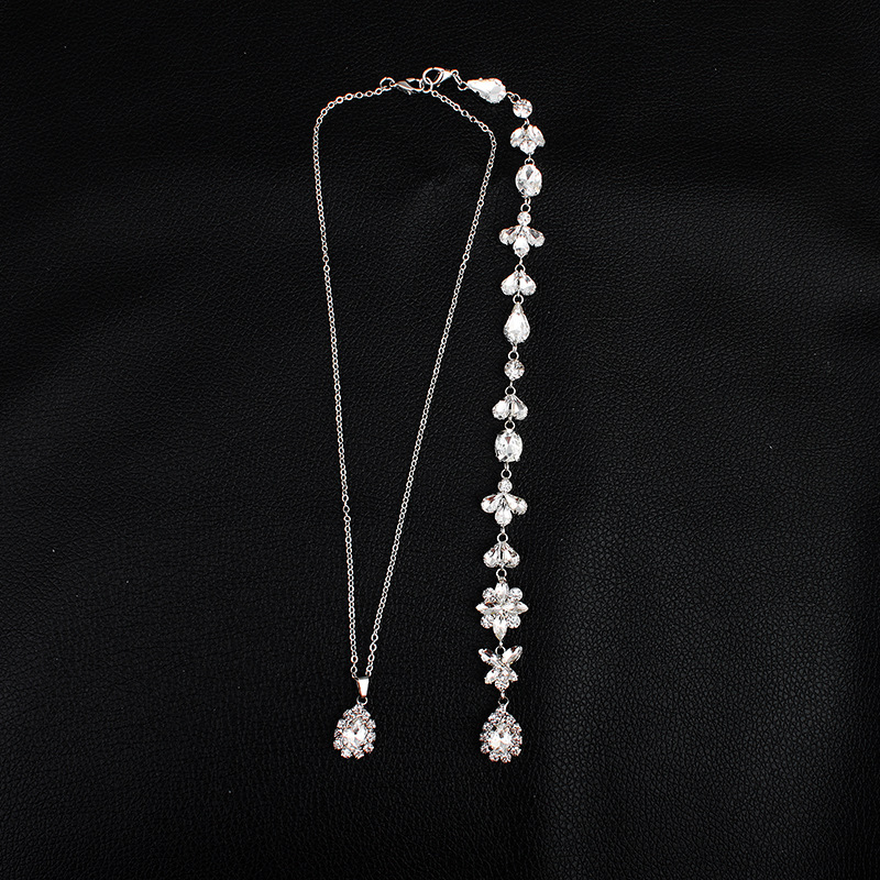 Imitated crystal&CZ Fashion Flowers necklace  (Alloy) NHHS0337-Alloy