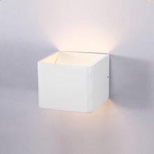 led壁灯室内方形铝材现代简约 酒店工程LED壁灯 双头卧室床头灯