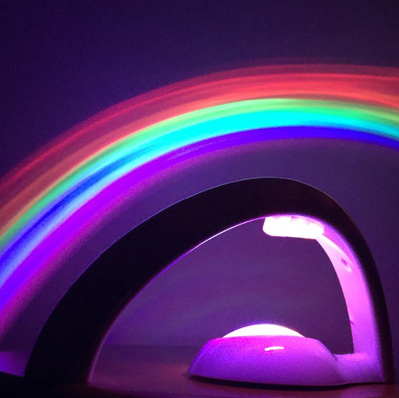 二代彩虹投影仪投影灯工厂直销蛋形彩虹投影led灯弧形七彩小夜灯