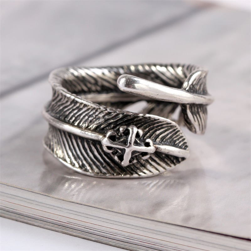 Star street shoot alloy plating Ring (Ancient silver -19)NHKQ1152-Ancient silver -19