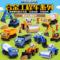 凯迪威 1:50儿童合金工程车多款模型玩具带场景配件 实体货源
