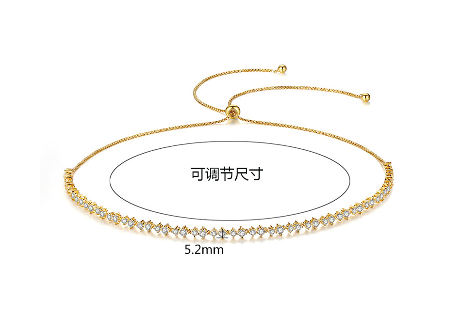 Lianzhizhi necklace AAA zircon inlaid Korean fashion adjustable female necklace NHTM180425