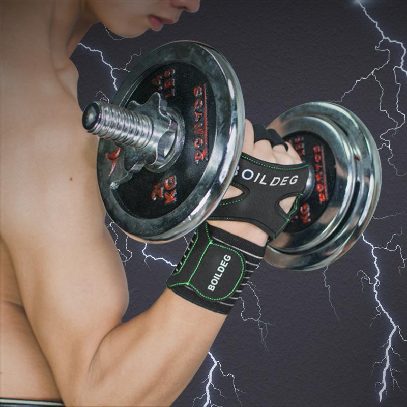 BOODUN/博顿亚马逊新款健身手套护掌耐磨防滑室内健身房运动批发