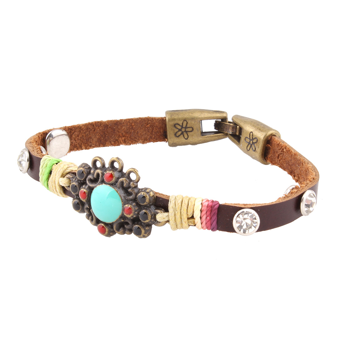 Occident and the United States alloy plating Bracelet (brown)NHNMD3769-brown