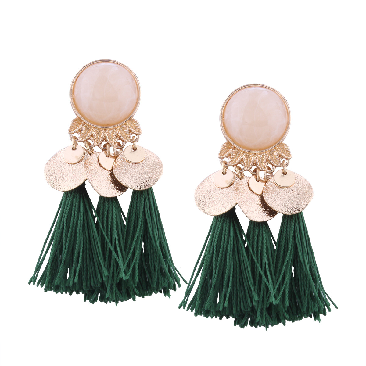 Occident and the United States alloy plating earring (color)NHNMD3873-color