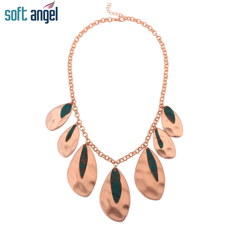 Occident and the United States alloy plating necklace (Sample color)NHBJ0316-Sample color