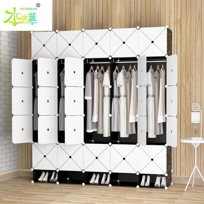 衣柜简约现代立体型组装布艺塑料柜子钢架衣橱衣柜收纳简易衣柜