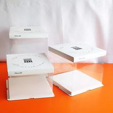 厂价20烘焙包装蛋糕盒 白色透明摩卡生日蛋糕礼品盒尺寸LOGO可定