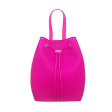 新款 儿童小孩糖果色果冻硅胶双肩包简约时尚彩色水桶背包 批发
