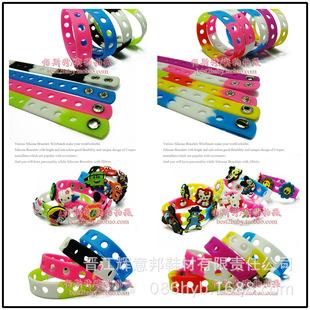 Factory direct children's silicone bracelet cartoon wrist strap adjustable sports bracelet bracelet color 18cm