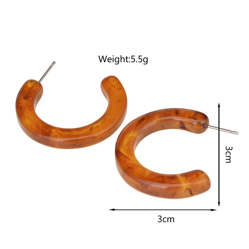 Acrylicearring (brown)NHYT0559-brown