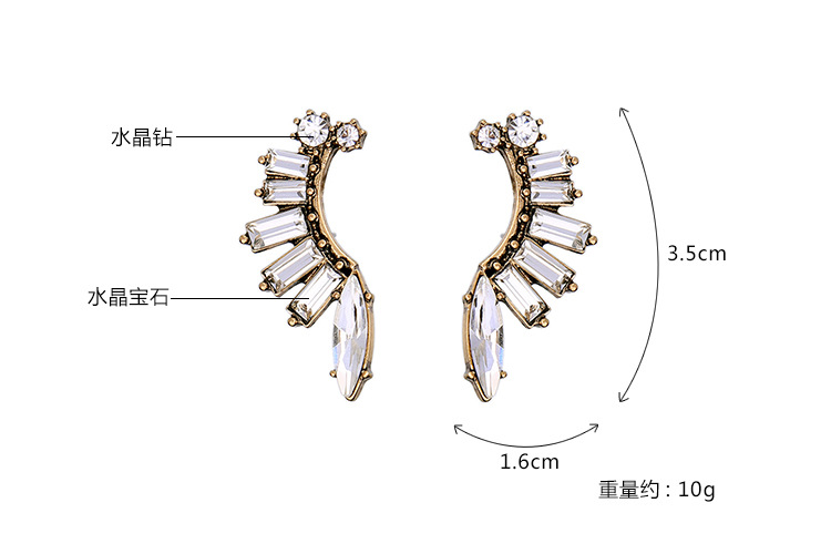 Occident and the United States alloy Rhinestone Earrings  NHQD3349