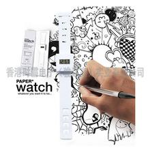 德国杜邦纸防水LCD电子纸腕带手表广告促销礼品手表环保材料