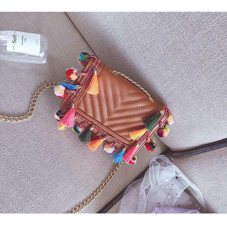 Korean version PUShoulder bag (Pink)NHPB0303-Pink