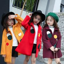 女童呢外套2017秋冬季新款韩版中小儿童时尚潮流呢子大衣加棉加厚