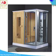 雙人桑拿蒸汽一體式淋浴房 淋浴房整體浴房蒸汽 芬蘭木沐浴房兩用