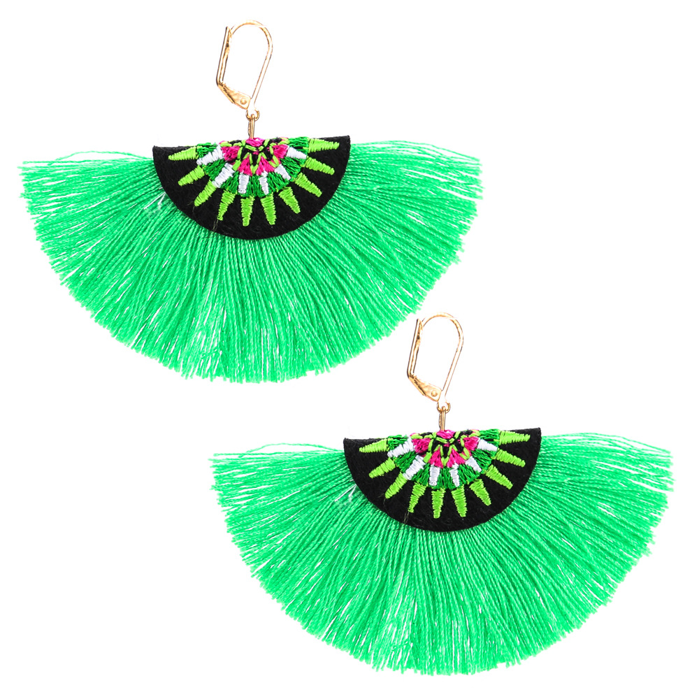 Occident and the United States Clothearring (green)NHJE0503-green