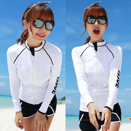 Korean diving suit female long-sleeved swimsuit sunscreen jellyfish clothing split snorkeling suit couple suit surf clothing male
