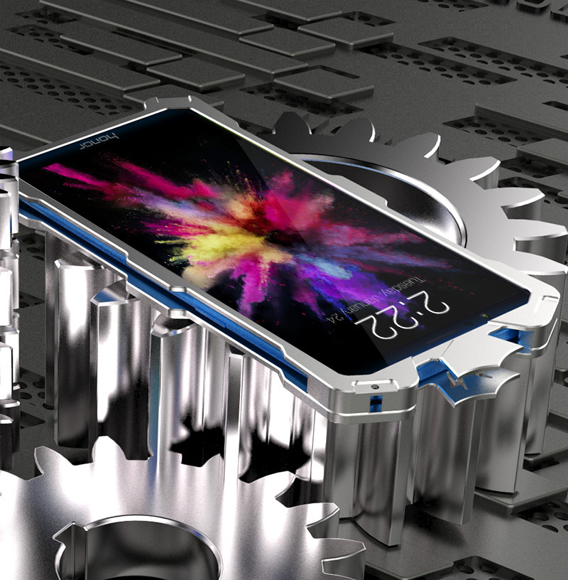 SIMON THOR Aviation Aluminum Alloy Shockproof Armor Metal Case Cover for Huawei Honor 7X