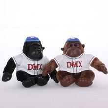 批發現貨供應可愛呆萌大明星黑猩猩金剛猴子毛絨玩具8寸抓機娃娃